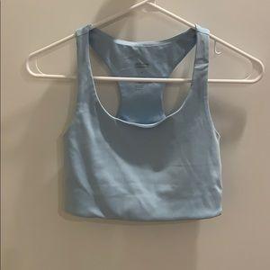 Girlfriend collective powder blue bra